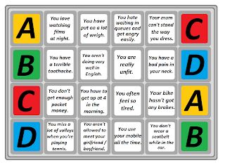 Easy Teaching Ideas: Let's play ABCD games