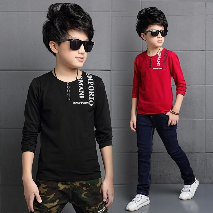 18.98$  Buy now - http://ali1q6.shopchina.info/go.php?t=32782916931 - Handsome Letter T-shirt For A Boy Fashion O-neck Roupas Infantis Menino Comfort Edition Sweatshirts For Children Boys Clothes  #aliexpress