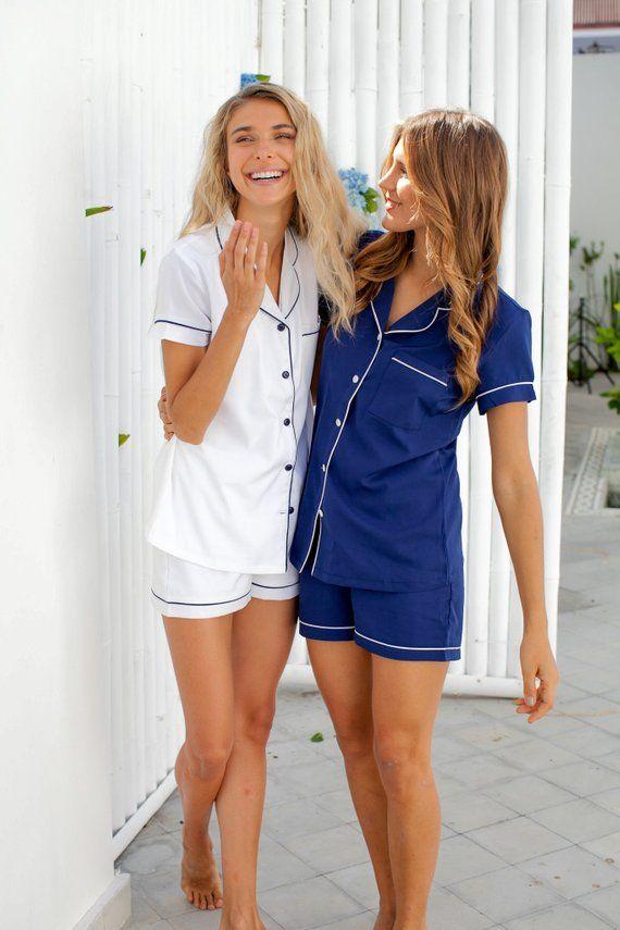 97e2d40b701 Pajama Set // Pyjama Set // Bridesmaid Pajama // Bridesmaid Gift ...