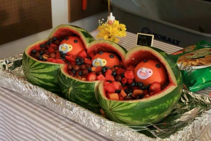 baby shower fruit salad party picks pinterest