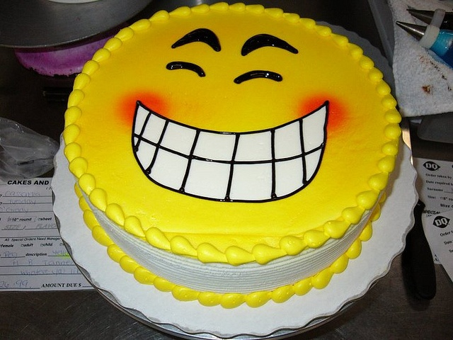 18 best custom cakes images on pinterest custom cakes happy face cake pronofoot35fo Choice Image
