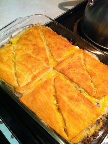 Runza Casserole - one of our favorites!!  I make ours with a can of celery soup as well.  We make this monthly!  Gotta love Runza's!!!!