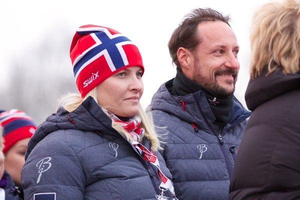 Noblesse et Royautés:  Royals at the Nordic World Ski Championship, Falun, Sweden, February 28, 2015-Crown Princess Mette-Marit and Crown Prince Haakon