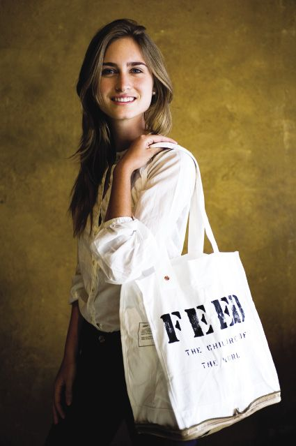 In 2007, Lauren Bush Lauren started FEED Projects by producing an ecofriendly tote that helps raise money for Food for Education programs around the world.