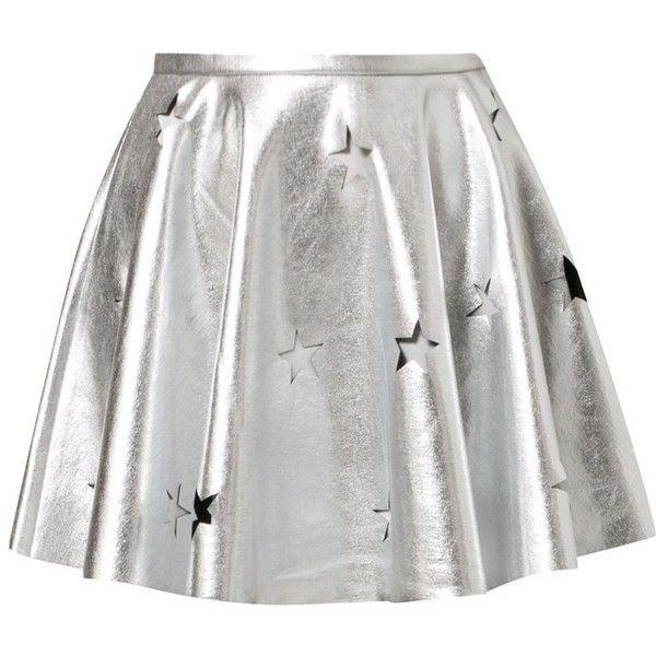 Finders Keepers LOVE GUN Mini skirt ($78) ❤ liked on Polyvore featuring skirts, mini skirts, bottoms, faldas, silver, short miniskirt, mini skirt, print skirt, silver mini skirt and short skirts