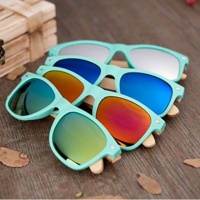BOBO BIRD Bamboo Polarized Fashion Sunglasses