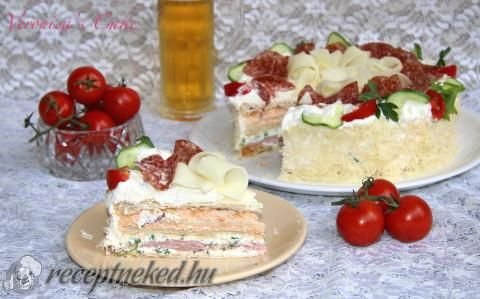 Szendvics torta recept fotóval