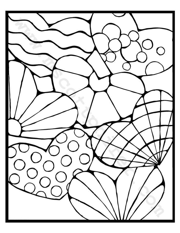 Coloring Pages Hearts by BrokenCrayonWorks on Etsy