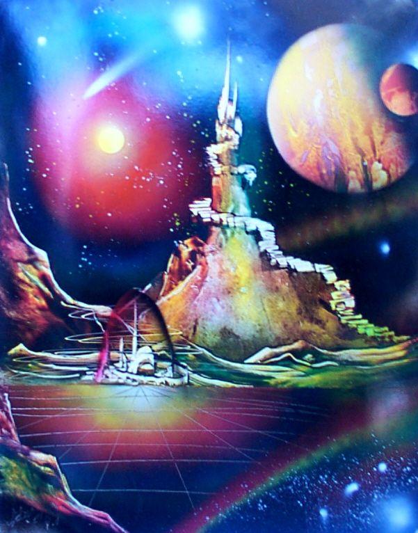 So gorgeous! Image detail for -Original Spray Art Paintings - StarBirdSales.com