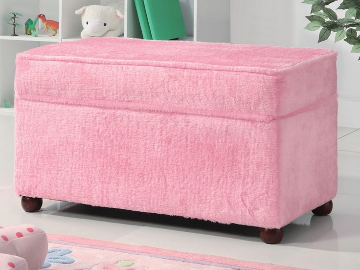 Storage Bench In Fuzzy Pink Fabric By Coaster - a fun and tidy youth  bedroom or playroom with this lovely upholstered Storage Bench by Coaster. - 42 Best Images About Storage Bench For Bedroom On Pinterest