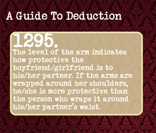 A Guide to Deduction -Andrew always tries to do this and I hate it cause it pulls my hair. Know I realize how sweet <3