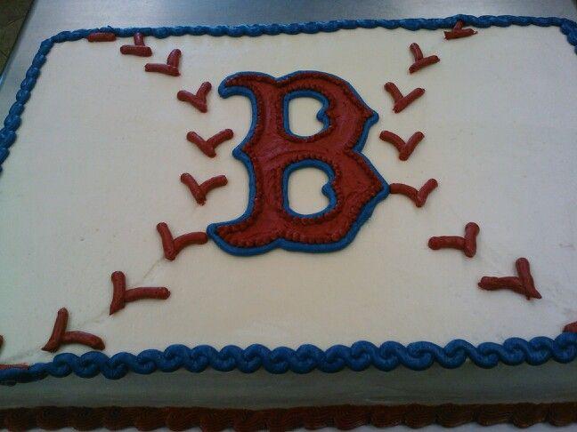 Boston Red Sox sheet cake