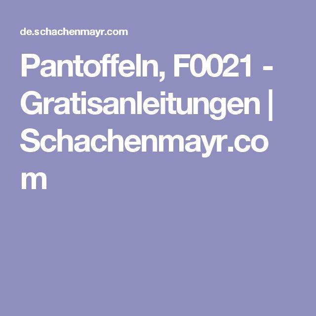 Pantoffeln, F0021 - Gratisanleitungen | Schachenmayr.com