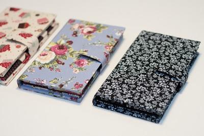 Carteiras em cartonagem. Simplesmente lindas.