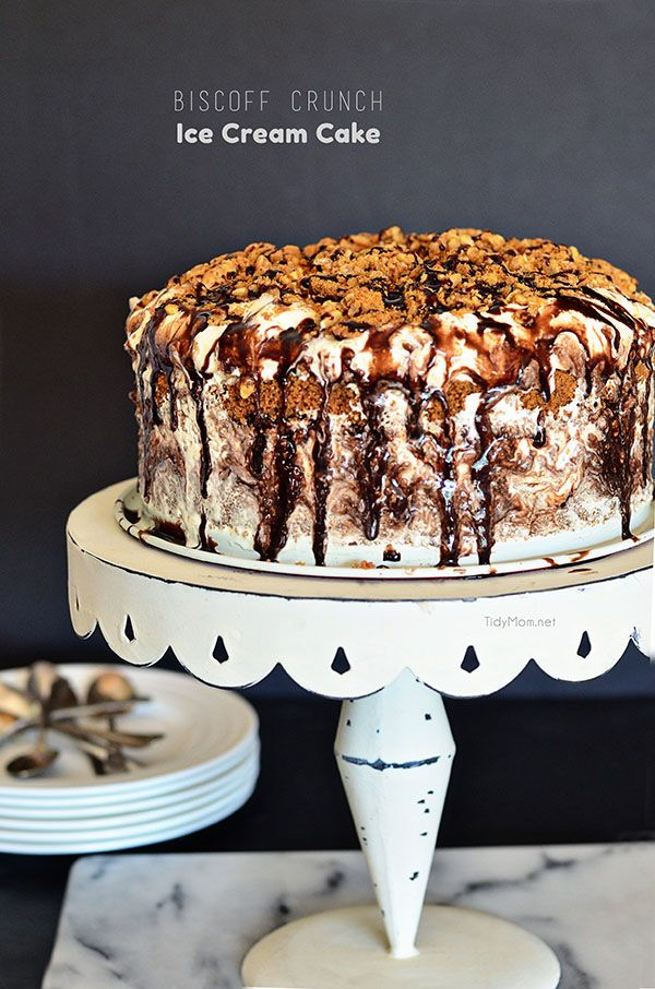 Biscoff Crunch Ice Cream Cake recipe at TidyMom.netDelicious Desserts, Icecreamcake, Biscoff Crunches, Crunches Ice, Biscoff Cake, Ice Cream Cakes, Lolly Jane, Cake Recipes, Biscoff Ice Cream Cake