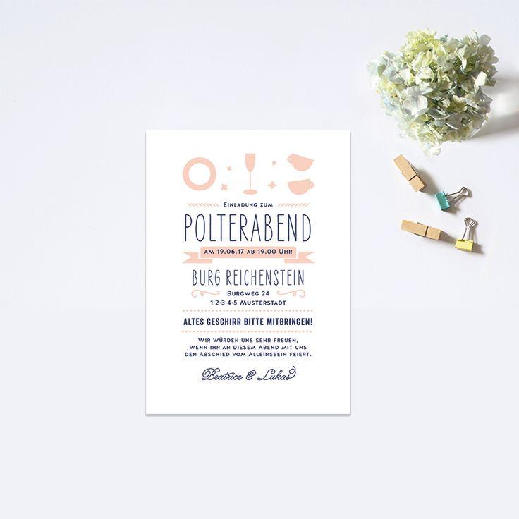 """Love type"" Polterabend Einladung by Bonjour Paper"