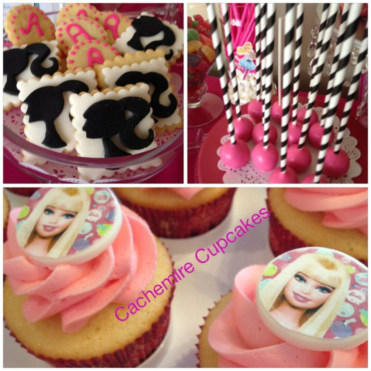 Candy Bar -birthday Party -Cookies -cakepops -cupcakes -Barbie theme.