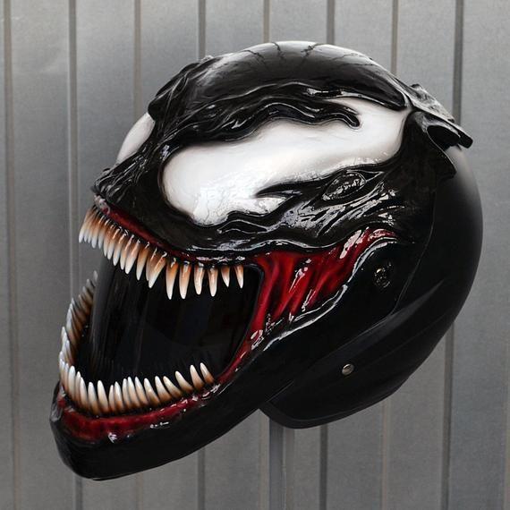 venom  symbiote  motorcycle helmet  dot u0026ece certified