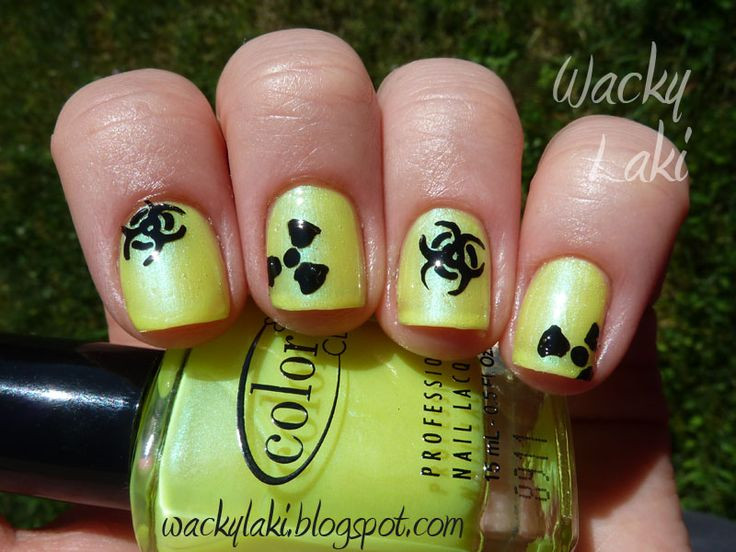 Katrina's nails on their date.