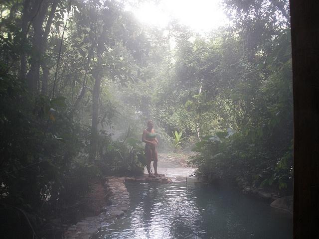 Sarah at Jaguar Hot springs, Honduras
