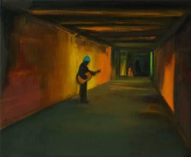 "Saatchi Art Artist Marta Zamarska; Painting, ""Busker 7 "" #art"