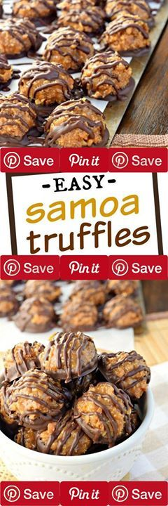 #sweets Samoa Truffles 1 hr to prepare makes 60 truffles Ingredients Vegetarian Condiments 1 can Dulce de leche Nuts & Seeds 7 oz Coconut sweetened Snacks 16 oz Ghirardelli dark chocolate wafers 2 cup Nilla wafer crumbs Dairy 1 can Condensed milk sweetened