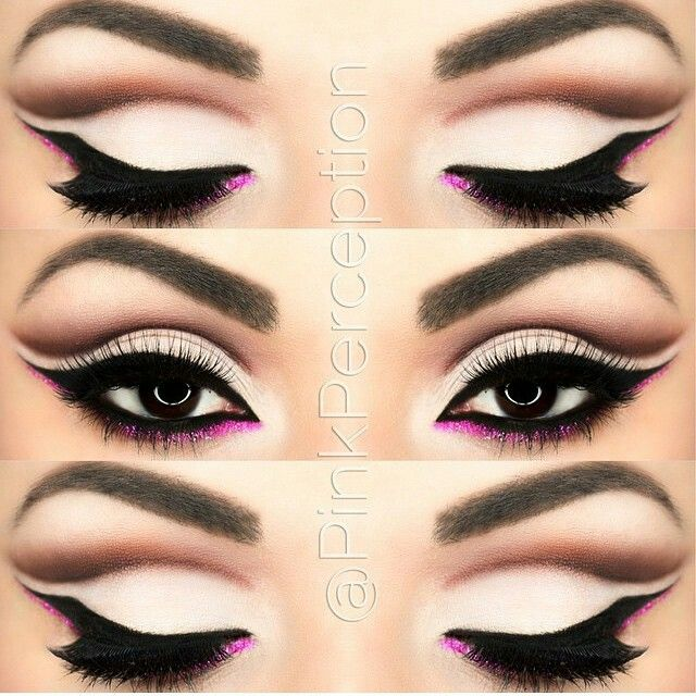 Beautiful cut crease makeup