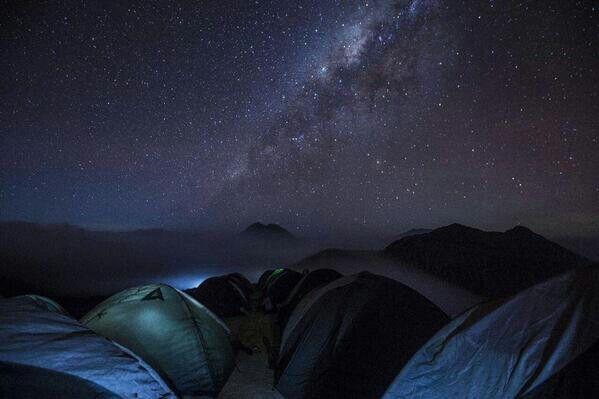 Tomorrow we will come here, looking the stars down. I love you :) Ranu Kumbolo
