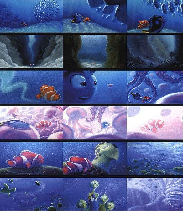 Finding Nemo, Storyboarding,I love it.