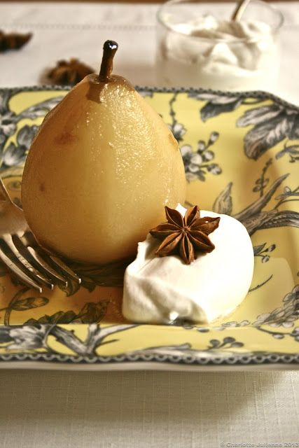 Sous Vide Poached Pears | Charlotte Julienne