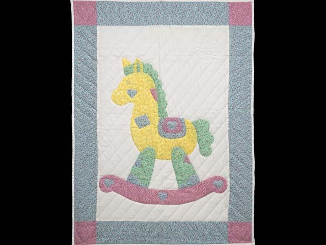 Rocking Horse Quilt -- terrific made with care Amish Quilts from Lancaster (wh6151)