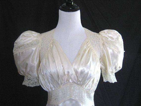 Classic Wedding Dress Satin: 295 Best Images About Vintage Wedding Dresses On Pinterest