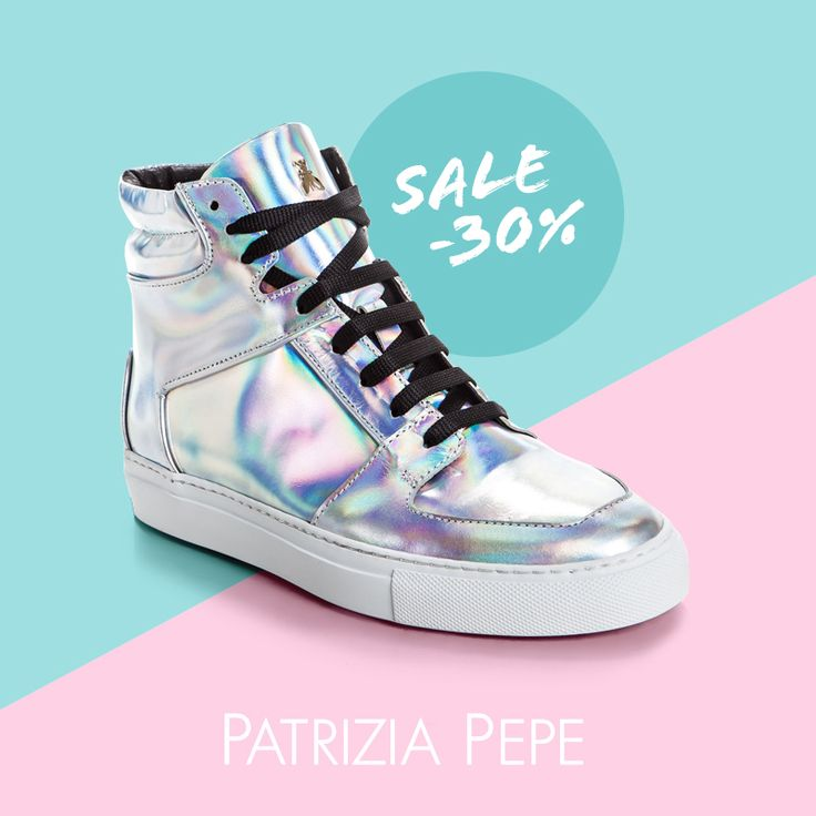 """Кеды PATRIZIA PEPE с модным """"бензиновым эффектом"""" со скидкой 30% на topbrands.ru #topbrands #patriziapepe #кеды #обувь #sneakers #fashion"""