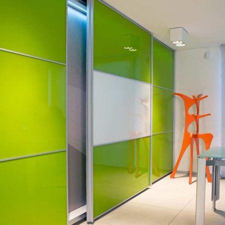 Las puertas milano han sido pensadas para ser usadas con for Closet de aluminio