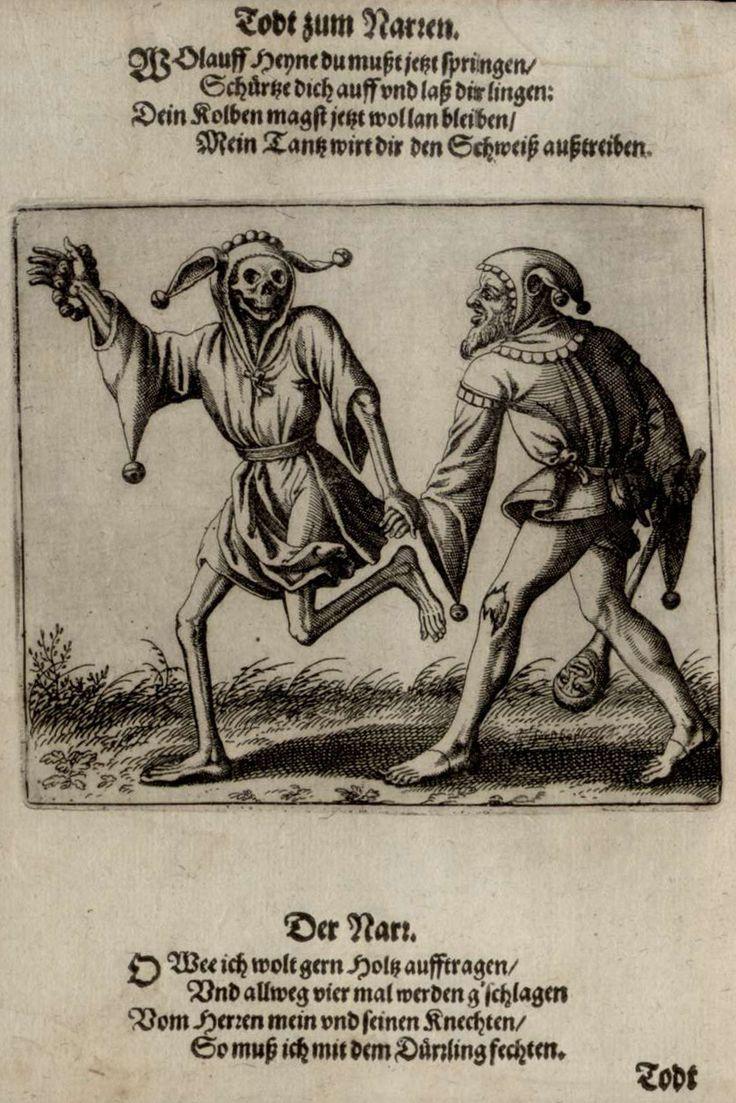 La danse macabre du Grand-Bâle - Le fou - Merian 1621