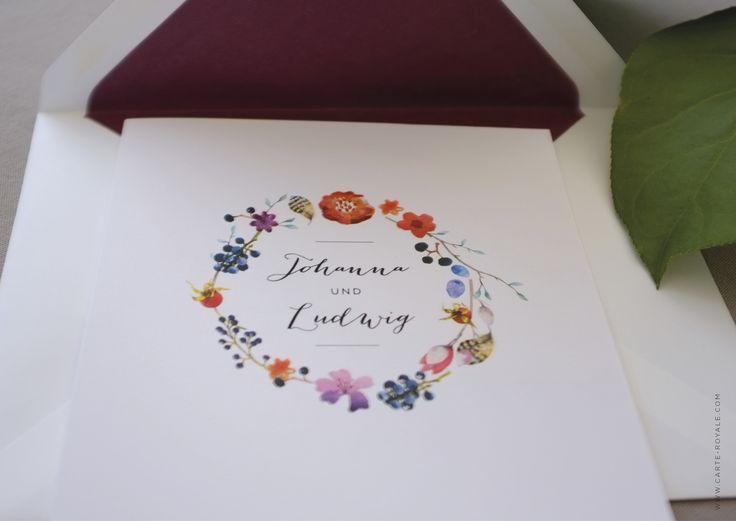 Einladungskarten Mit Individuellen Designs. Hochwertige Einladungen Auf  Büttenpapier Gedruckt.