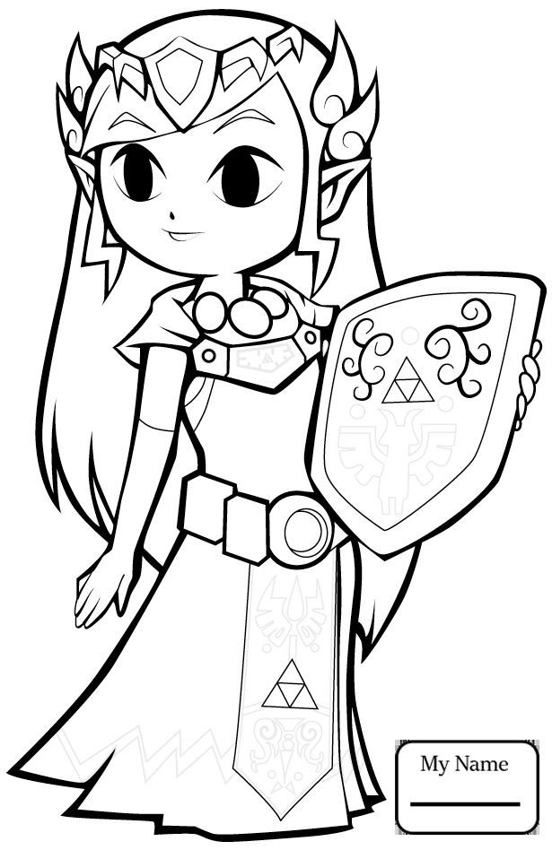 Legend Of Zelda Coloring Pages 59 Jpg 615 948 Disney