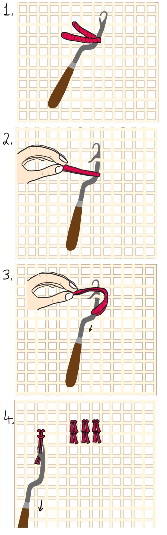 ★ Latch Hook Rug Making   How to Make Your Own Rug   Tutorials & Projects Roundup ★