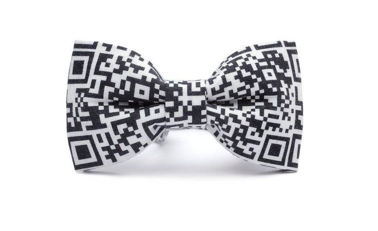 QR bow tie! High quality print, organic,  certificated cotton.
