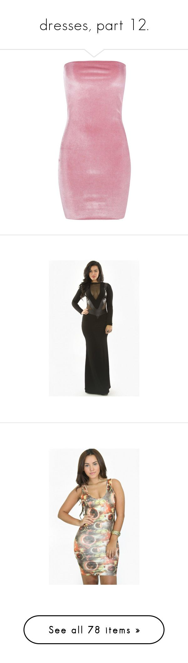 """""""dresses, part 12."""" by trillestqueen ❤ liked on Polyvore featuring dresses, jersey maxi dress, petite maxi dresses, pink cocktail dress, velvet bodycon dress, petite dresses, nude, evening party dresses, cocktail party dress and short cocktail dresses"""