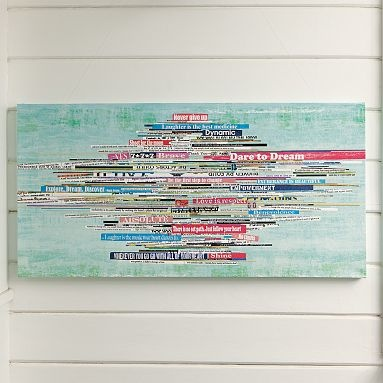 Inspirational Quotes Wall Art, fun DIY collage idea...