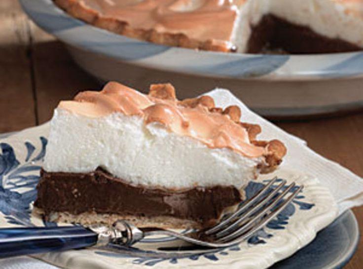 Chocolate Pie  http://www.justapinch.com/recipes/dessert/pie/my-grandmothers-chocolate-pie.html?p=1