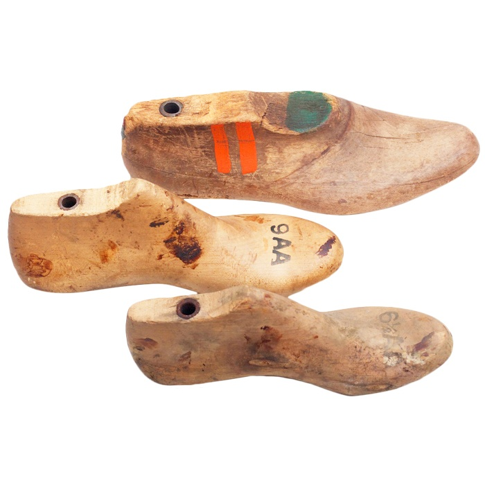 "Vintage 3 Piece Shoe Form Set - reminds me of my first ""real"" job at E. T. wright, a shoe manufacturer in Rockland MA"