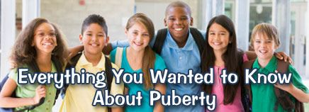 Puberty starts with the release of hormones from the pituitary glands.