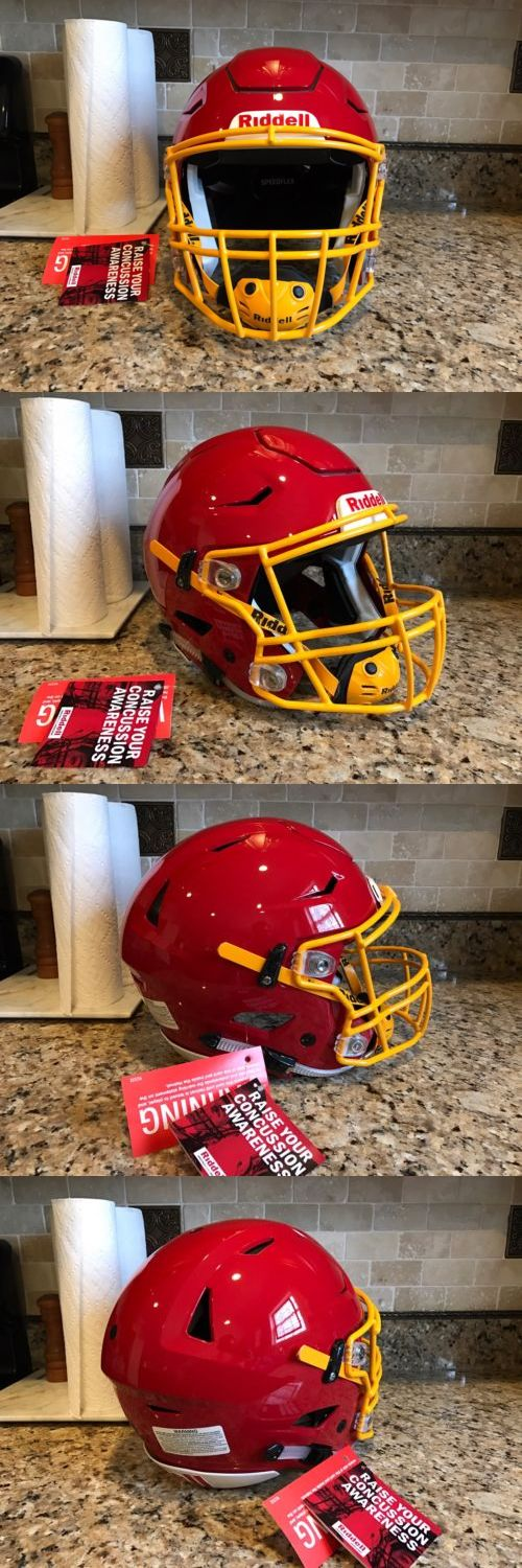 Helmets and Hats 21222: Riddell Revo Speed Flex Speedflex Football Helmet Red W Yellow Facemask Adult L -> BUY IT NOW ONLY: $365 on eBay!