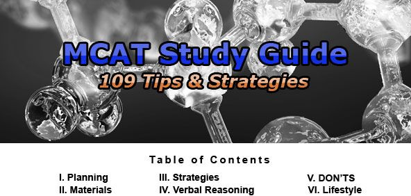 These aren't all relevant or current, but the majority of these are very good tips. // 109 MCAT tips