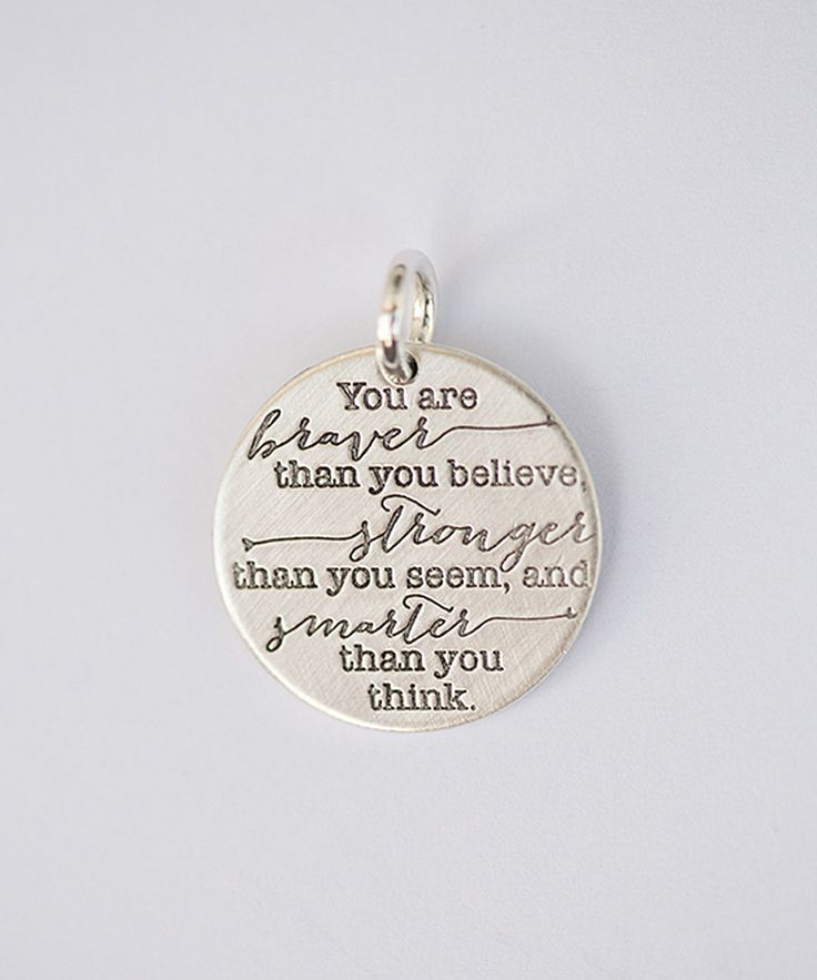 Look at this Five Little Birds Sterling Silver 'You Are Braver' Charm on #zulily today!
