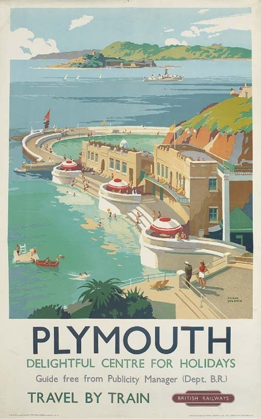 Vintage Railway Travel Poster - Plymouth - by Frank Sherwin - Google Search.