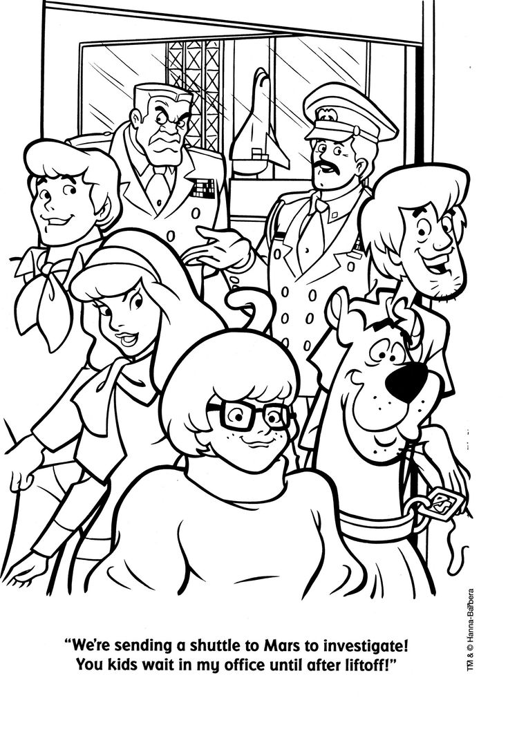 118 best coloring pages vintage images on pinterest for Scooby doo halloween coloring pages