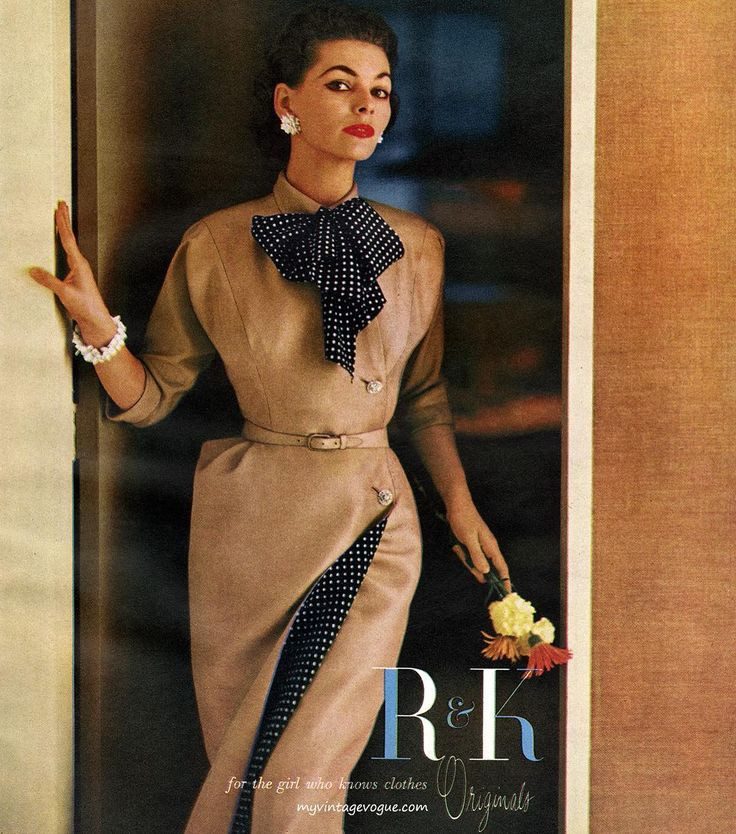 R&K Originals 1954 #GeorgiaHamilton #advertising #vintagemagazine…
